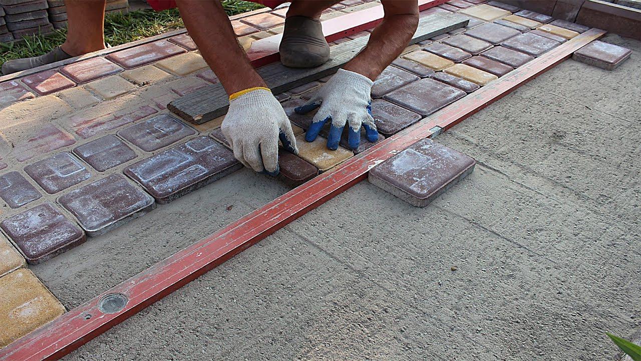 Как класть тротуарную плитку и бордюры своими руками