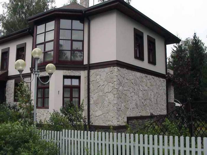 Сочетания цветов в покраске фасада