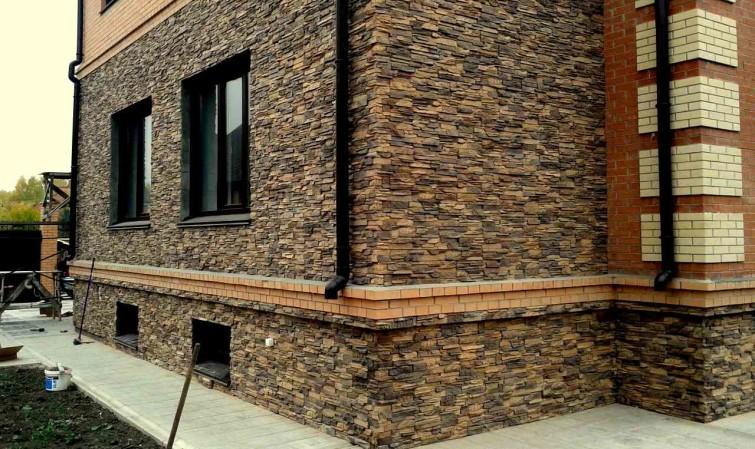 Дизайн из искусственный камень для фасада