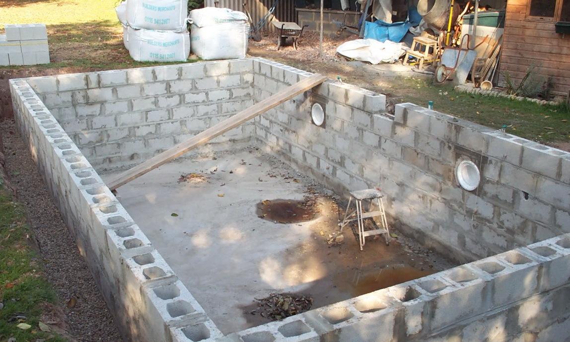 Как сделать бассейны для дачи бетонные