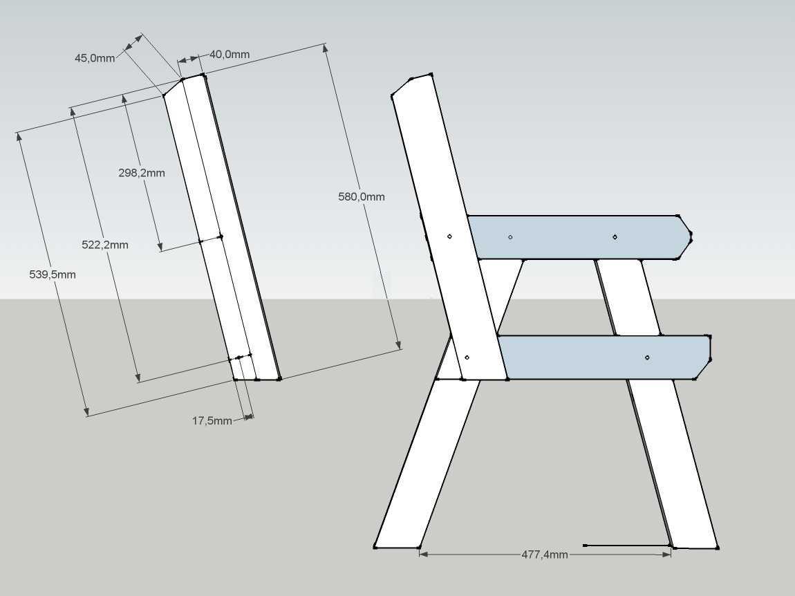 Простая садовая скамейка своими руками чертежи