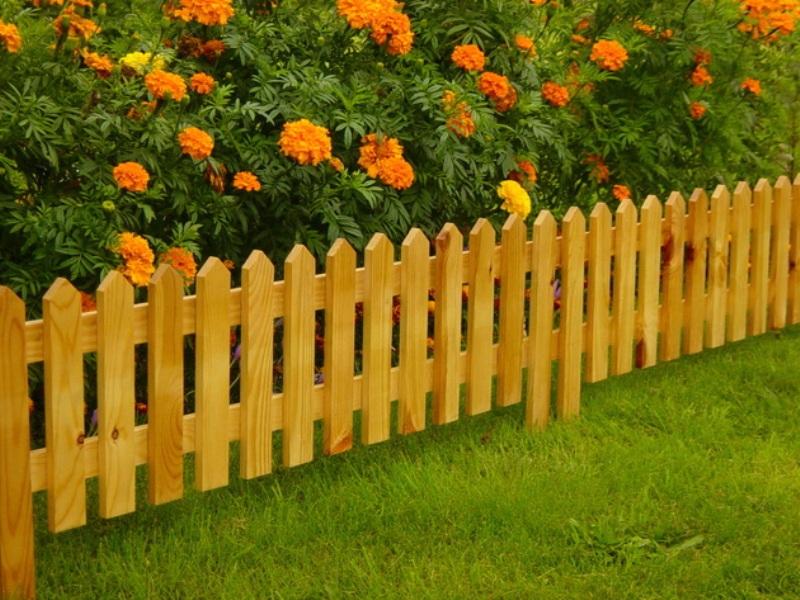 Заборчик для цветов своими руками