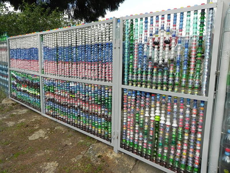 Заборчик из пластиковых бутылок своими руками фото 398
