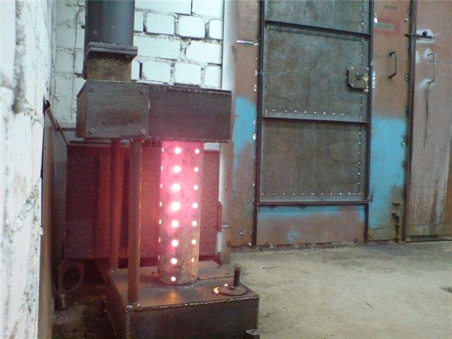 Печь отопления для гаража своими руками 124