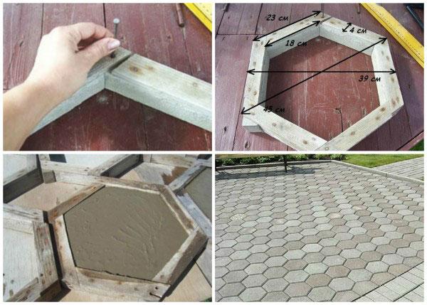 Как сделать тротуарную плитку в домашних условиях. Формы для изготовления тротуарной плитки своими руками. Как изготовить тротуа