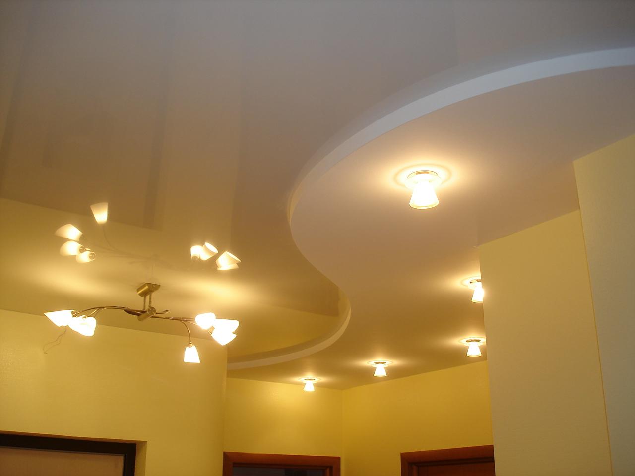 Работа с гипсокартоном потолок двухуровневый