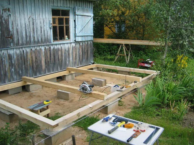 Веранда на даче строим своими руками