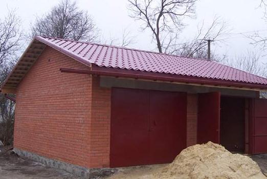 Как сделать гараж из кирпичей