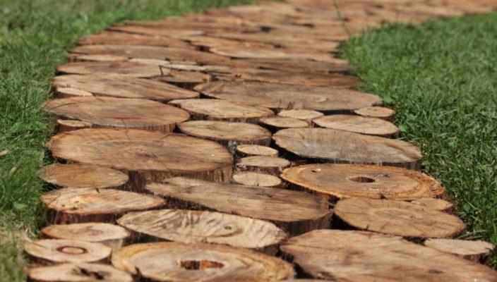 Дорожка из спилов дерева своими руками: инструкция по 53