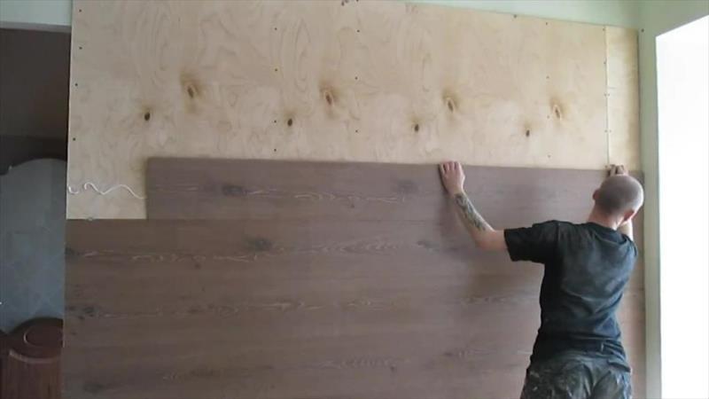 Установка ламината своими руками на стену 94