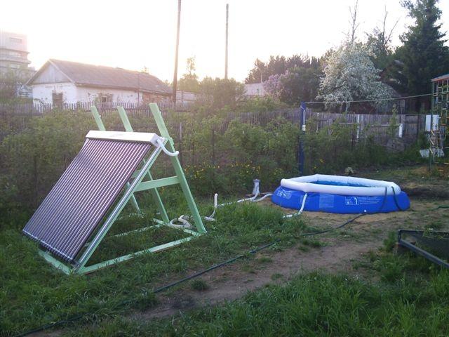 Солнечные батареи для бассейна своими руками
