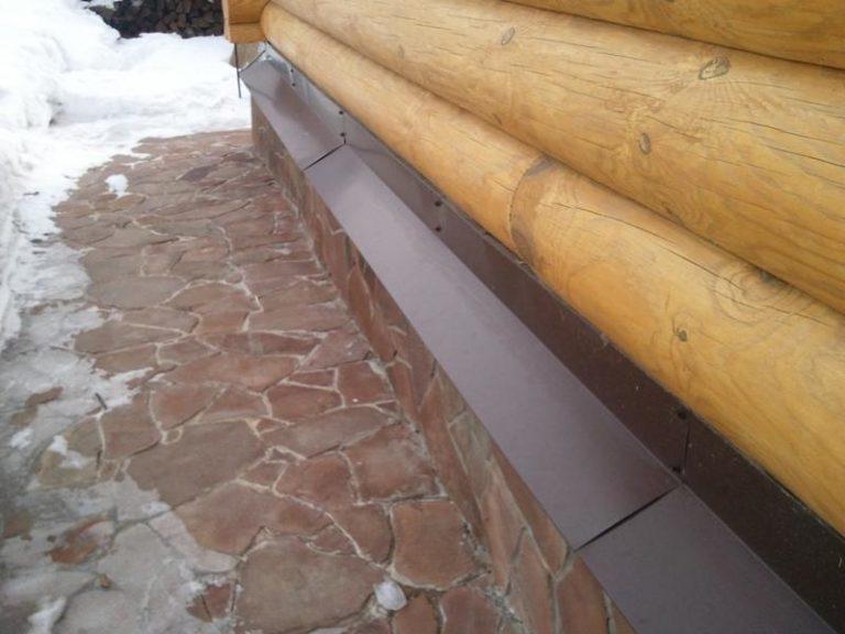 Как сделать отливы для фундамента деревянного дома