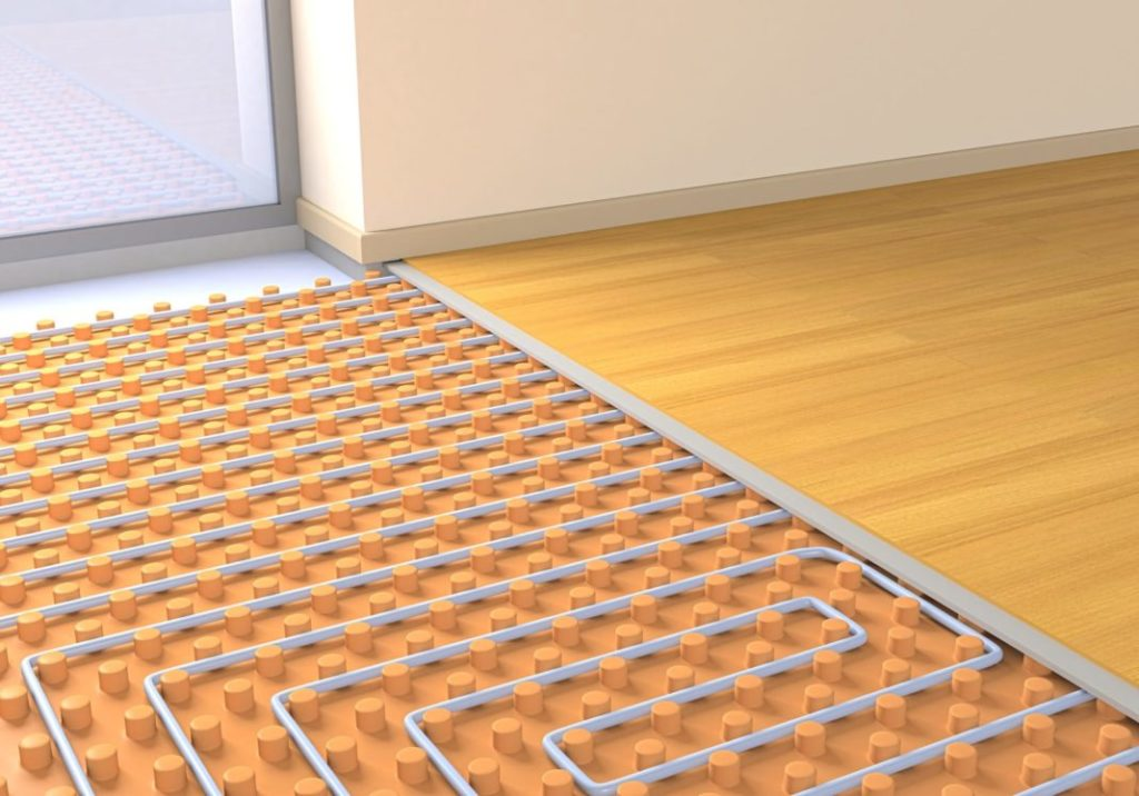 Under tile floor heating systems