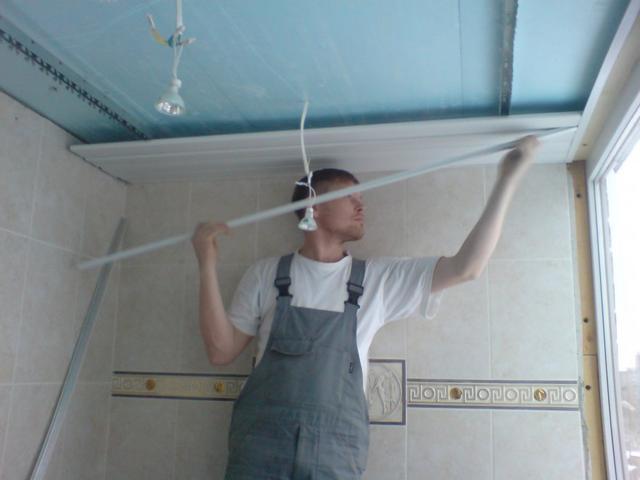 Сделать потолок своими руками в ванной