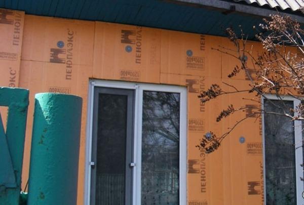 Отделка дома фасада под бревно