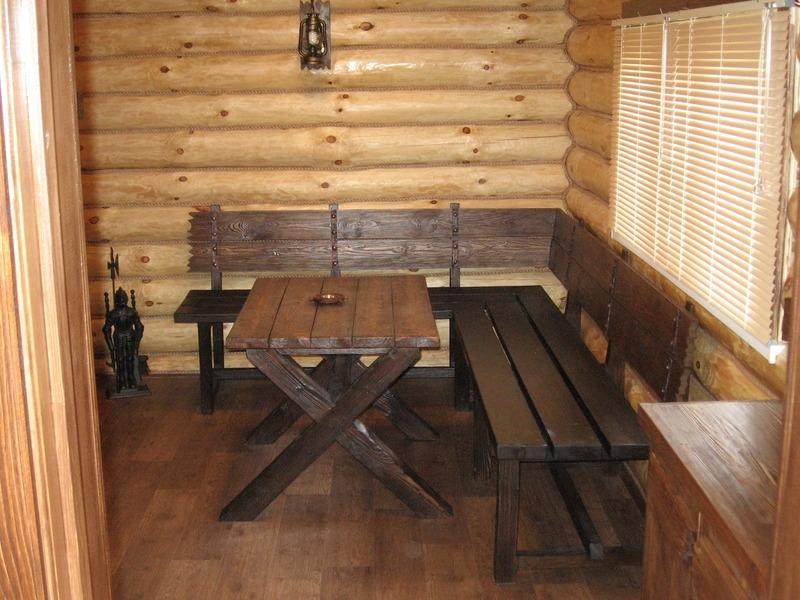 Стол лавки в баню 98